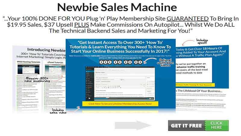 Newbie Sales Machine Full Review, FreedomHomeIncome